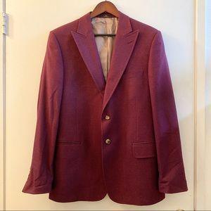 Valentino Silk Peak Lapel Jacket